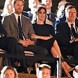 Meghan Markle Wears Stella McCartney Cape Dress October 2018