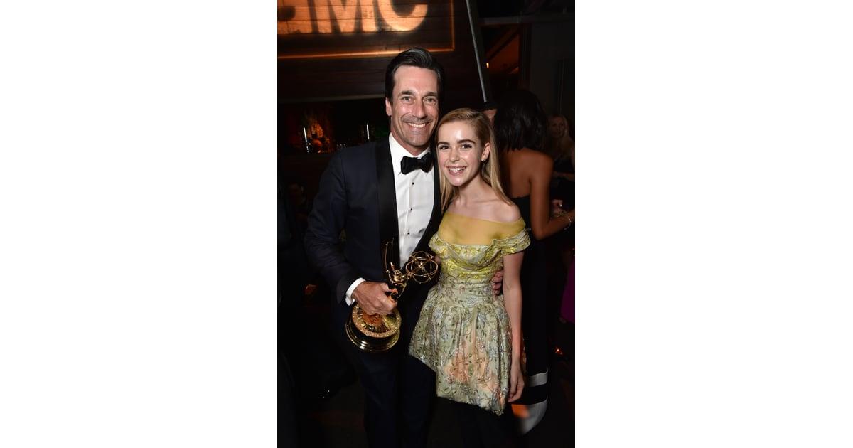 Jon Hamm and Kiernan Shipka | Mad Men Cast at the Emmy ...