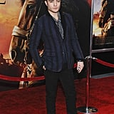Ed Westwick made it out for the NYC premiere of War Horse.