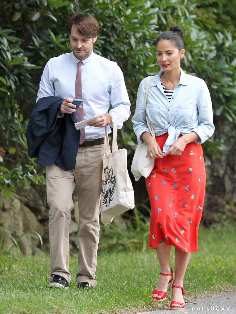 Olivia Munn and Will Forte made their way to Seth Meyers's wedding in Martha's Vineyard in September 2013.