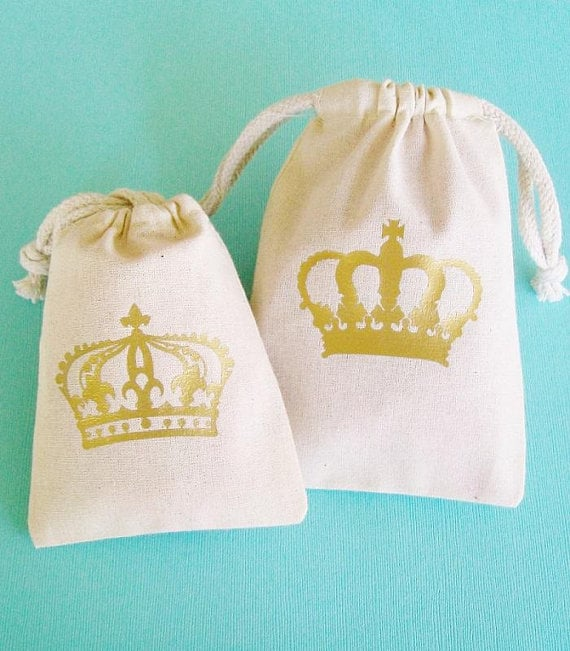 Royal Crown Party Favor Bags Royal Wedding Party Ideas Popsugar