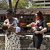 Breastfeeding in public should always seem this easy.