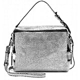 Black hardware toughens up this silver and black structured handbag for a cool, contemporary look.  3.1 Phillip Lim Textured Leather Satchel ($935)