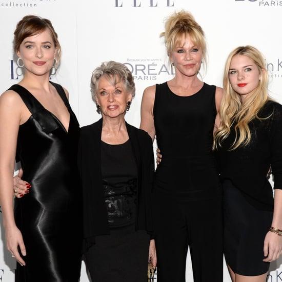 Dakota Johnson and Melanie Griffith Elle Women in Hollywood