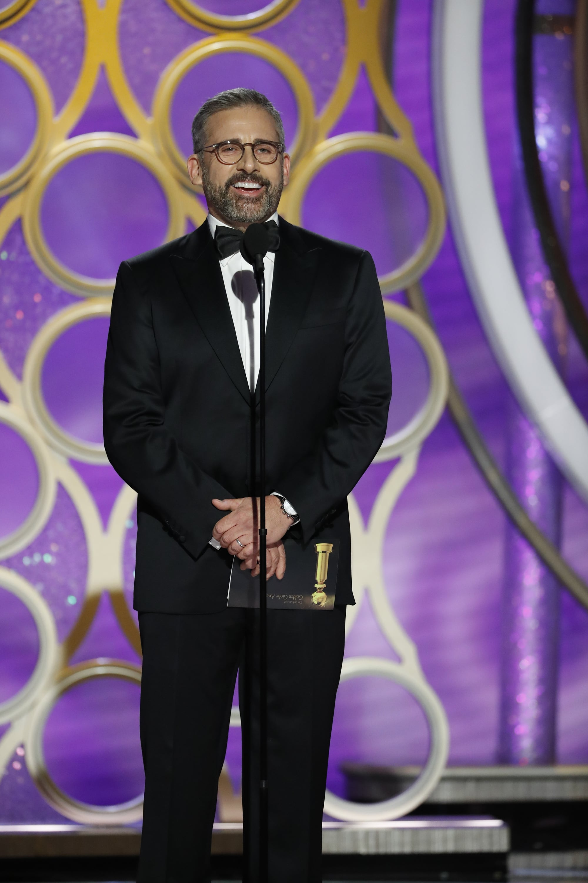 BEVERLY HILLS, CALIFORNIA - JANUARY 06: In this handout photo provided by NBCUniversal, Presenter Steve Carell  speaks onstage during the 76th Annual Golden Globe Awards at The Beverly Hilton Hotel on January 06, 2019 in Beverly Hills, California.  (Photo by Paul Drinkwater/NBCUniversal via Getty Images)
