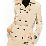 Calvin Klein Double-Breasted Belted Trench Coat ($100)