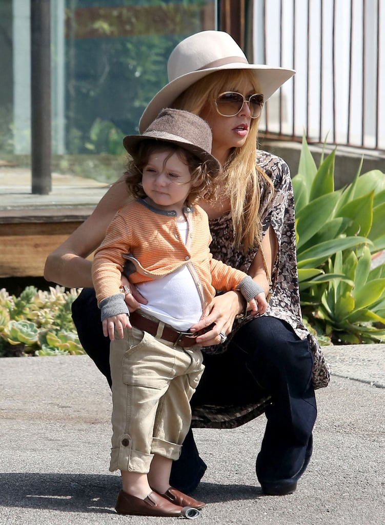 Rachel Zoe and her son Skyler were matching in hats for a shopping trip in LA on Saturday.