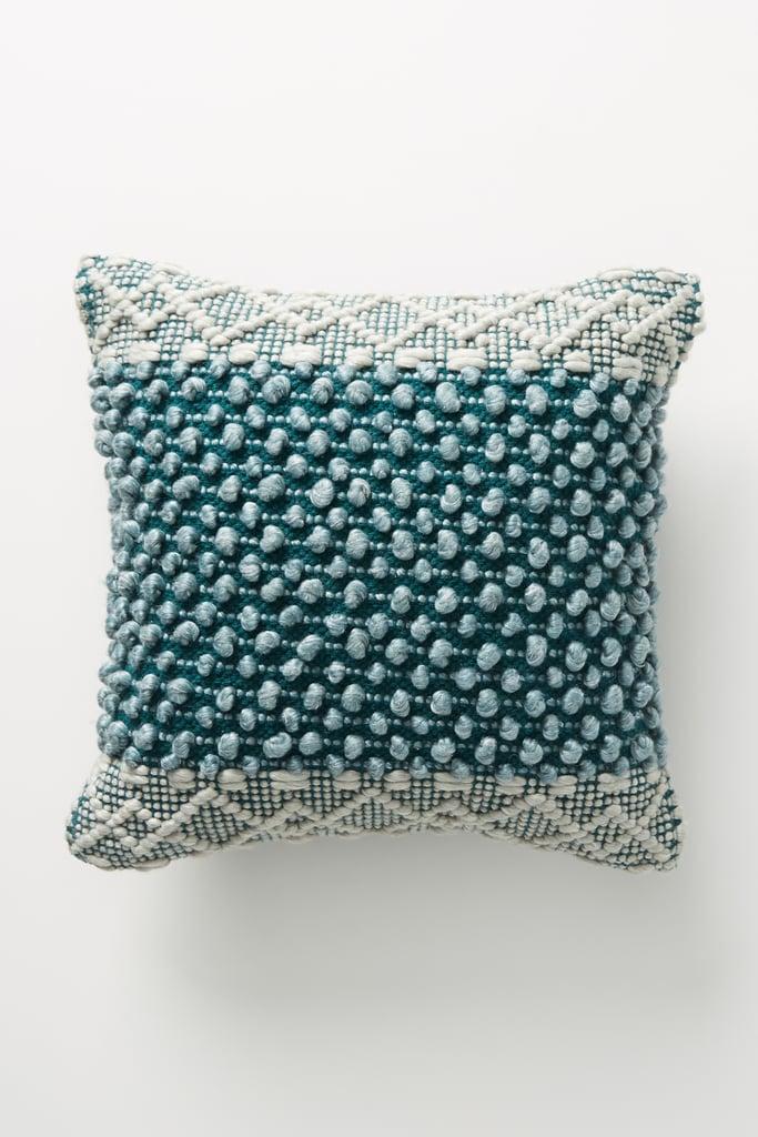 Joanna Gaines For Anthropologie Textured Eva Pillow in Dark Turquoise