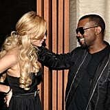 Lindsay Lohan and Kanye West Unite For a Scandal-Free Night of Fashion