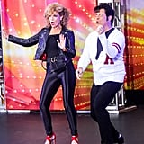 Savannah Guthrie and Carson Daly as Sandy and Danny From Grease