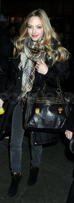 Amanda Seyfried Carried Studded Prada Bag