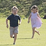 Kate Middleton With George and Charlotte at Polo Match 2018