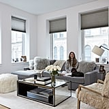 """I'm obsessed with my Mongolian fur chair in my living room. It's just a super special, unique piece that makes my living room pop,"" Arielle says of the statement seating piece."