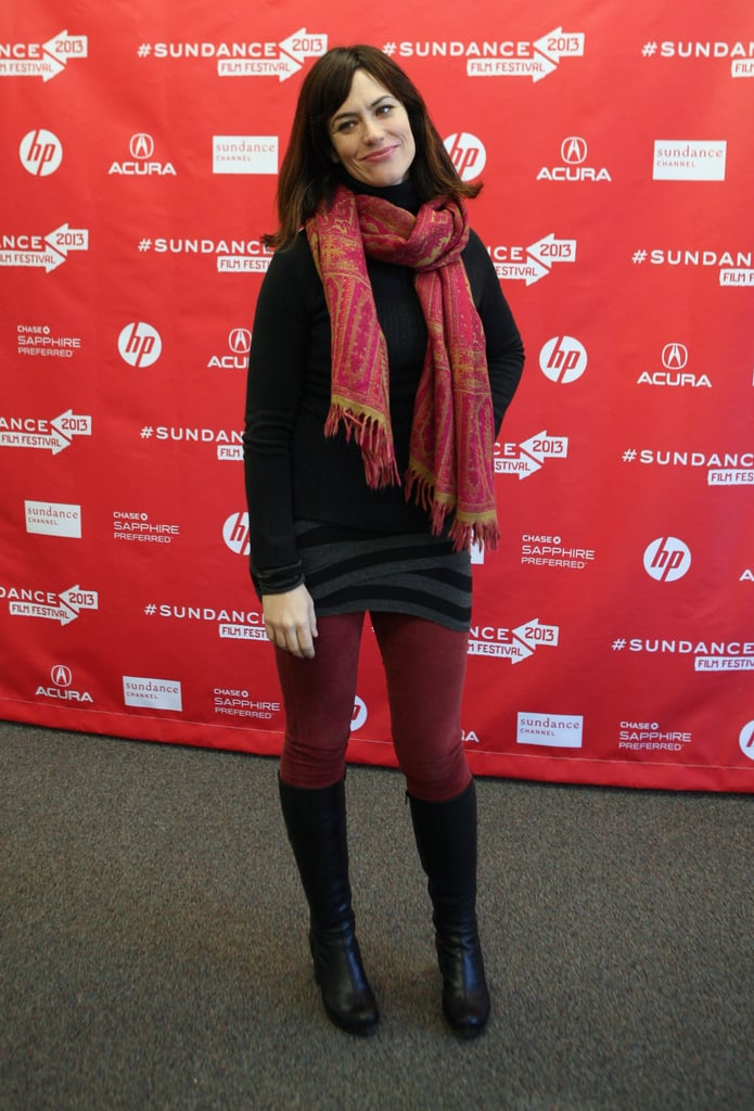 Maggie Siff posed on the red carpet on Saturday at the premiere of Concussion at Sundance.