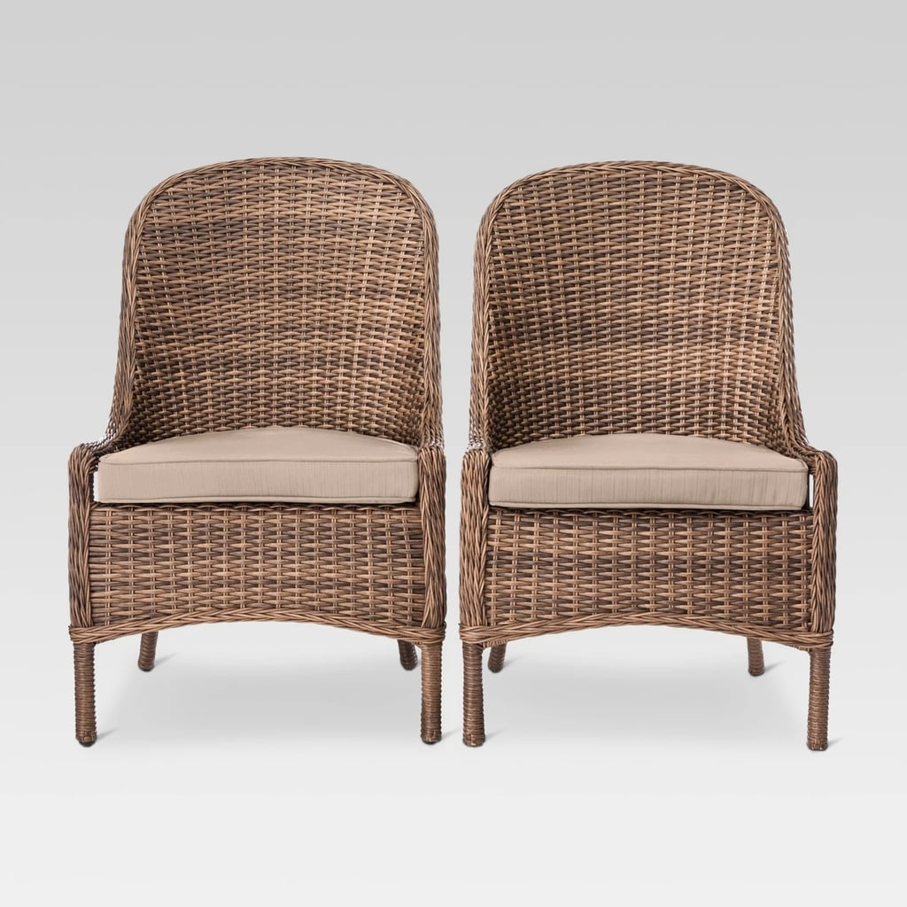 Mayhew 2-Pack All-Weather Wicker Patio Dining Chair