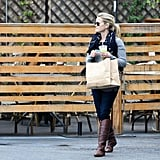 Reese Witherspoon at lunch with a friend.