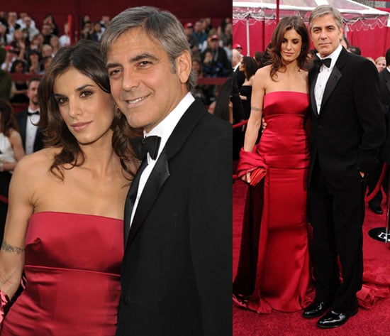 Photos of George Clooney and Elisabetta Canalis at the 2010 Oscars 2010-03-07 17:45:16