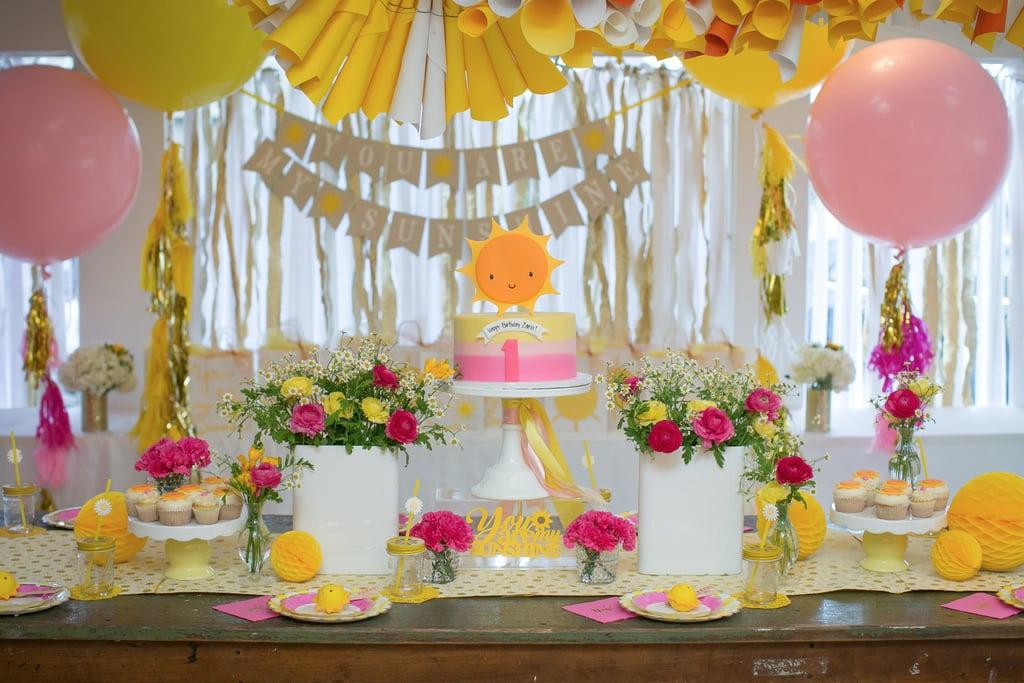 You Are My Sunshine Kids Birthday Party POPSUGAR Moms