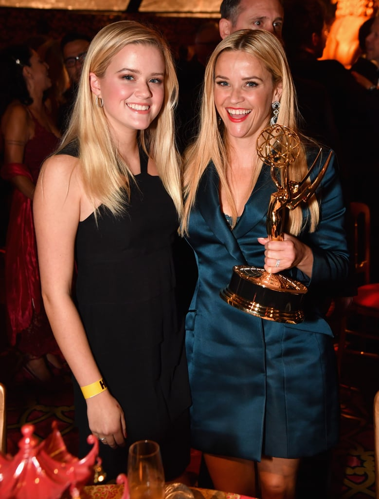 "Reese Witherspoon had a big reason to celebrate at the Emmys on Sunday night: her show, Big Little Lies, won eight trophies! Luckily, she had her 18-year-old daughter, Ava Phillippe, by her side. The two met up after the ceremony at HBO's annual afterparty and linked up with Reese's costar Laura Dern and her kids, son Ellery, 16, and daughter Jaya, 12. Aside from posing with her trophy, Reese opened up about her win, telling People it was ""an out of body experience."" ""[It was] amazing, overwhelming,"" Reese said. ""[I'm] so happy for my sisters in this process and this incredible family that we've built with HBO."" Although a second season of Big Little Lies has yet to be officially confirmed, all signs are pointing to it being a go.         Related:                                                                                                           Did Laura Dern Not Hug Reese Witherspoon After Winning the Emmy, or Is It a Big Little Lie?"