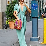 Miranda Kerr looked lovely in a long dress.