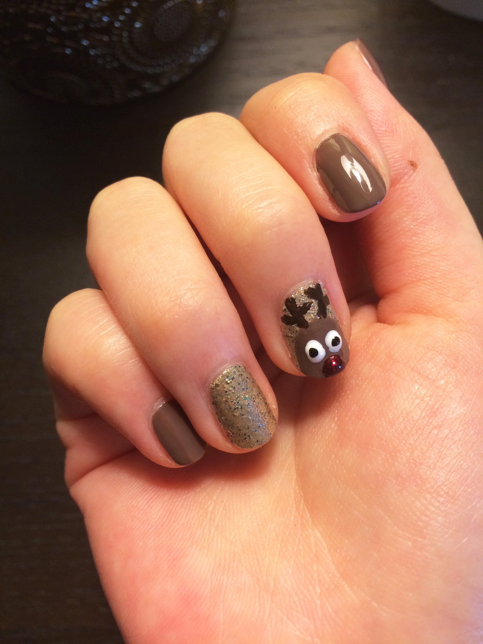 Reindeer Nail Art Popsugar Beauty