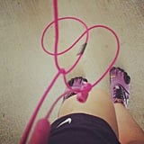 A little barefoot running equals a good morning for this reader. Source: Instagram user amspina1