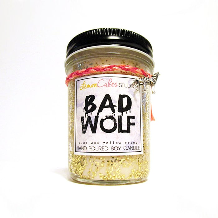 Bad Wolf candle ($12) with pink and yellow rose notes