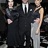 Dita Von Teese, Antonio Berardi, and Nicole Richie at the Antonio Berardi dinner.