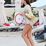 Stephanie Seymour carried beach toys in St. Barts.