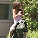 Suri Cruise hung out at a Baton Rouge park.