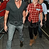Britney and Jason were together as they left London's BBC Radio One studios in September 2011.