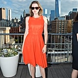 Atop a Tribeca rooftop, Alexis Bryan Morgan stood out in a bright dress for the annual David Yurman Summer party.