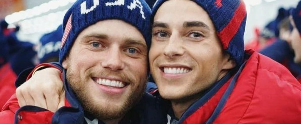 Gus Kenworthy and Adam Rippon at the Olympics 2018