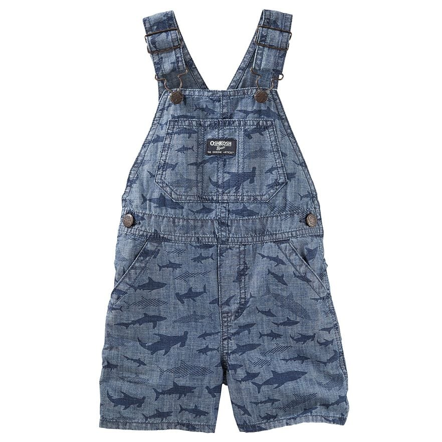 Sharks Chambray Shortalls