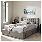 Rene Modern and Contemporary Fabric Storage Platform Bed