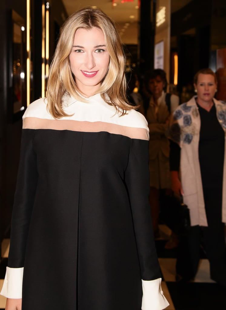 Lauren Remington Platt helped Bloomingdale's fete its latest pop-up in a pretty Valentino dress.