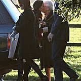Kate Middleton kissed the Queen.