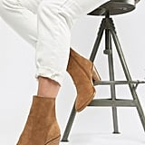 ASOS DESIGN Espresso Suede Ankle Boots ($99)
