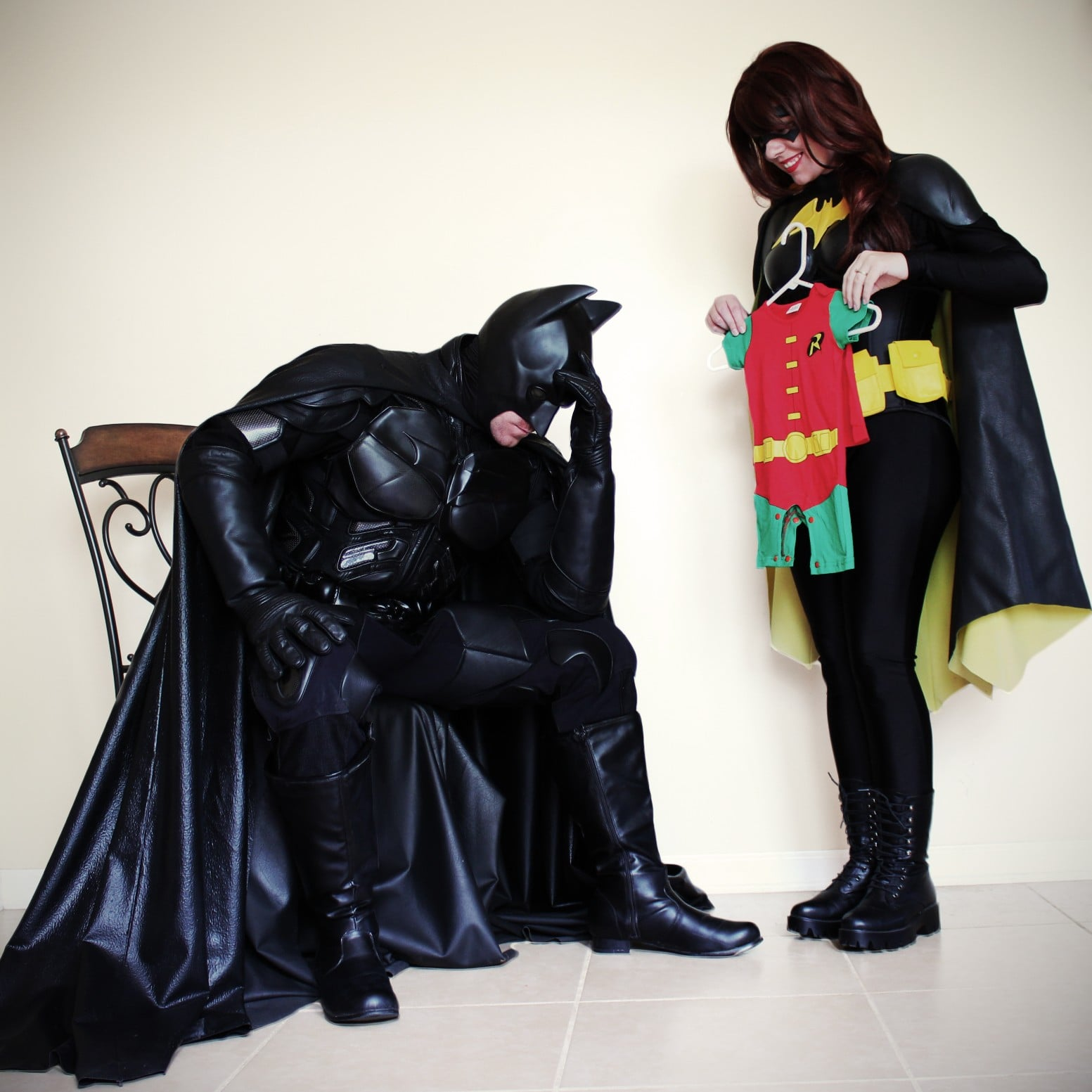 & Batman and Batgirl Sidekick Pregnancy Announcement | POPSUGAR Moms