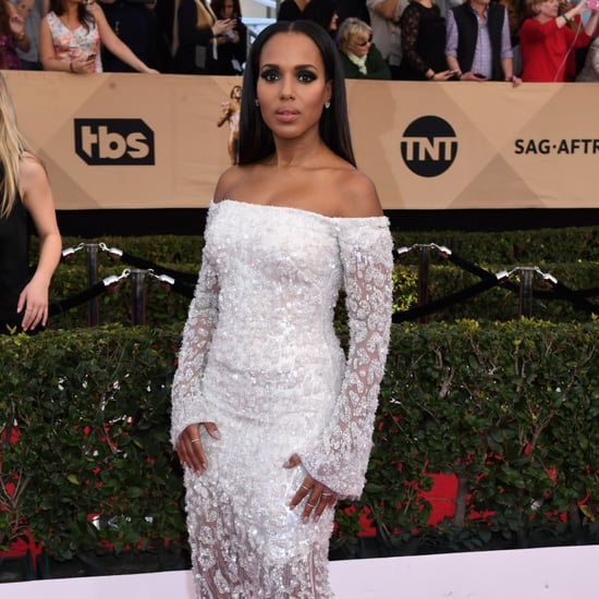 Kerry Washington in Cavalli Couture Dress SAG Awards 2017