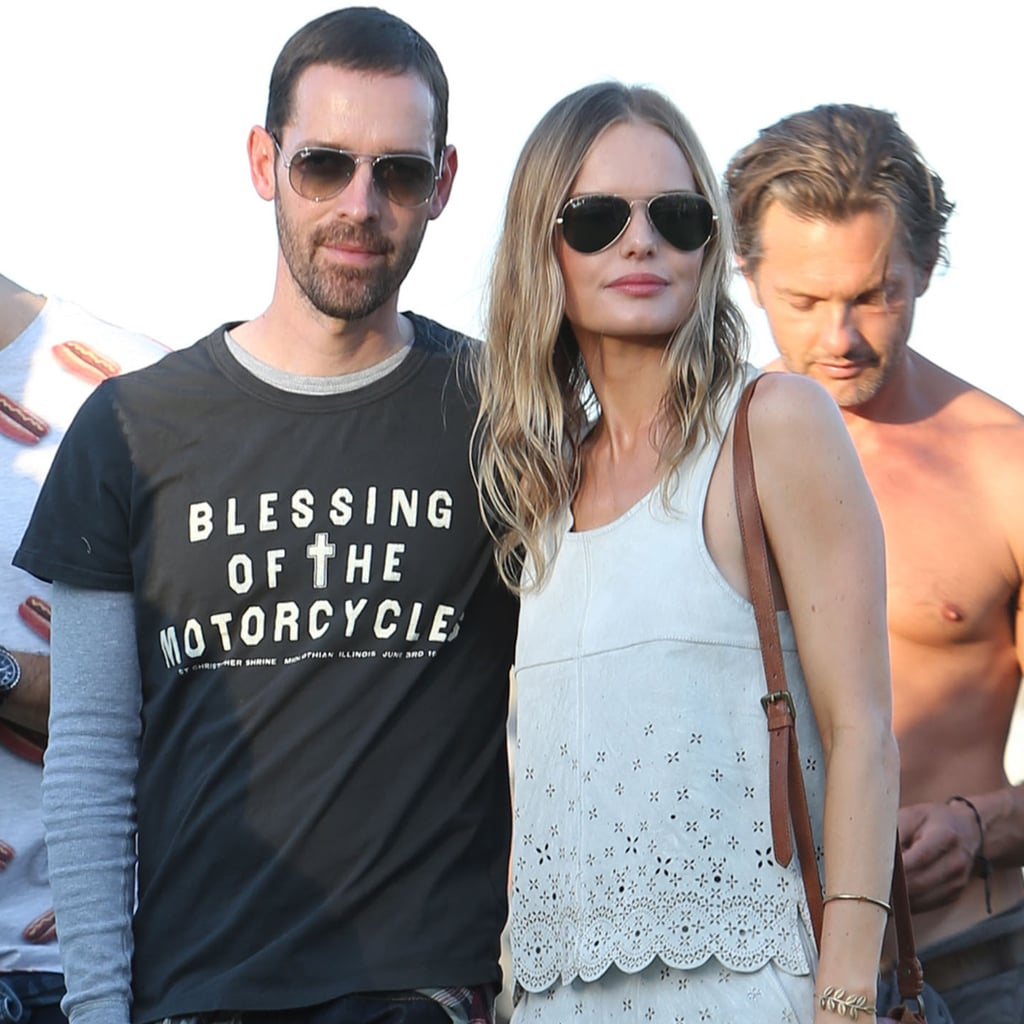 At Coachella, Kate Bosworth accessorized her white leather scalloped Topshop ensemble with this Jennifer Fisher gold cuff ($190).