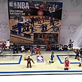 Your child can re-create the NBA Slam Dunk contest with this full court C3 NBA Construction Toys set that comes with five figures and five basketballs.