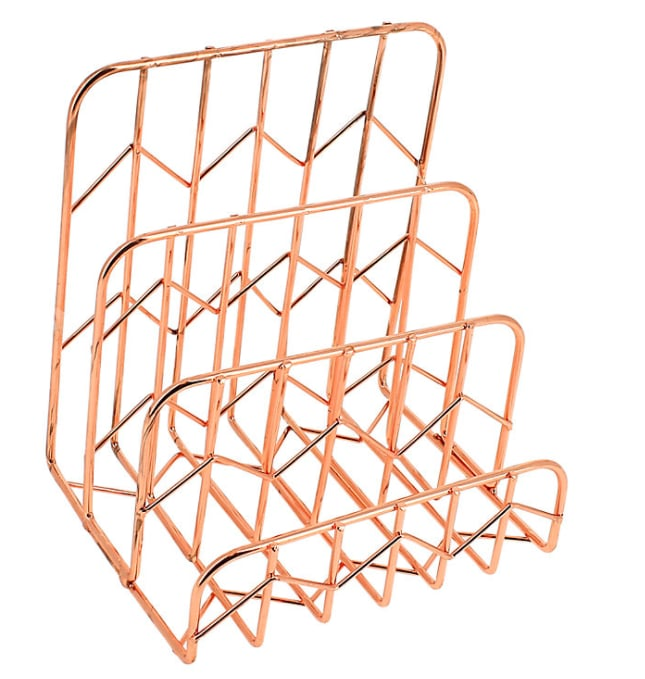 John lewis rose gold letter rack cute stationery gifts for Gold letter rack