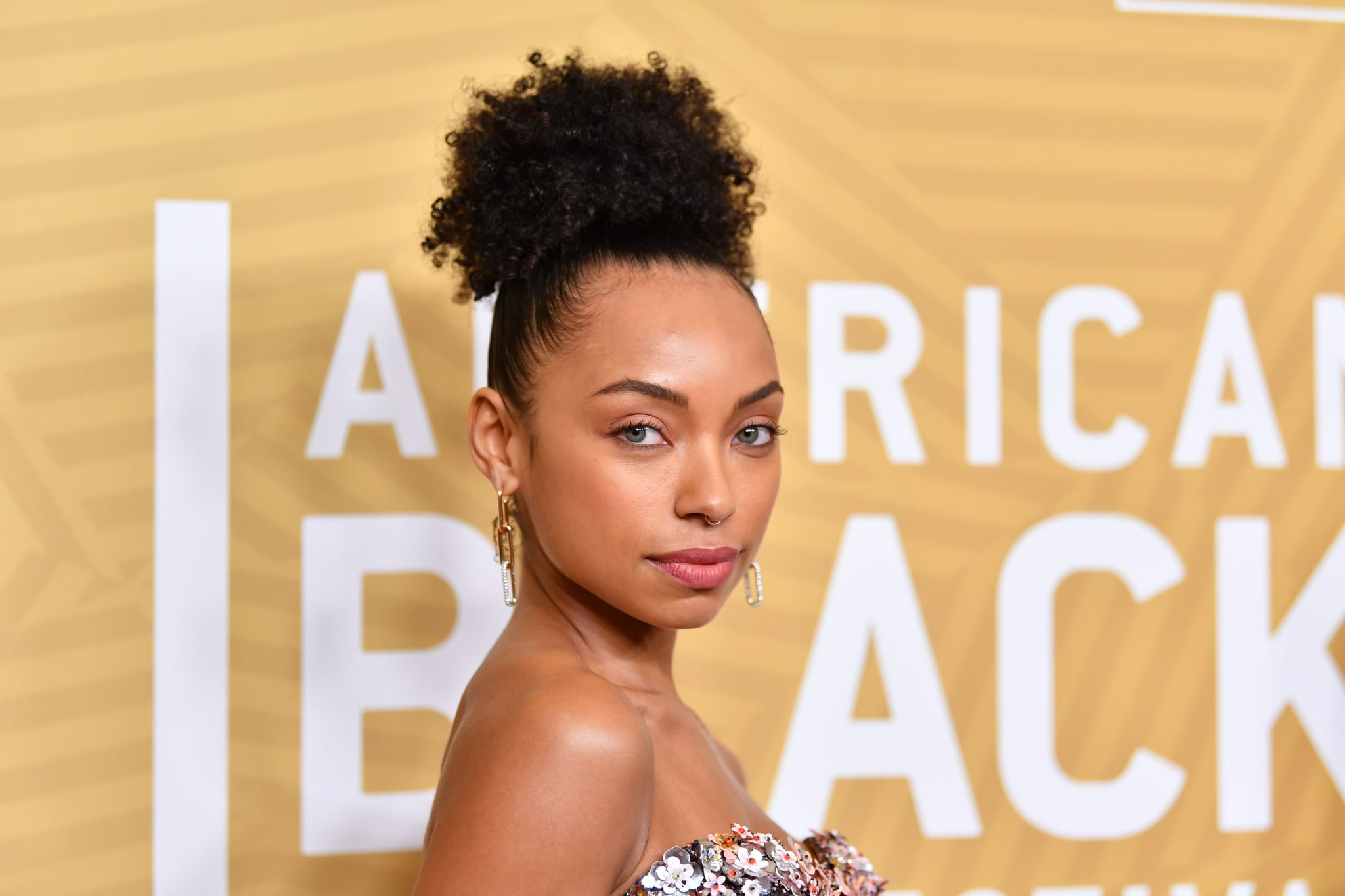 BEVERLY HILLS, CALIFORNIA - FEBRUARY 23: Logan Browning attends the American Black Film Festival Honors Awards Ceremony at The Beverly Hilton Hotel on February 23, 2020 in Beverly Hills, California. (Photo by Amy Sussman/Getty Images)
