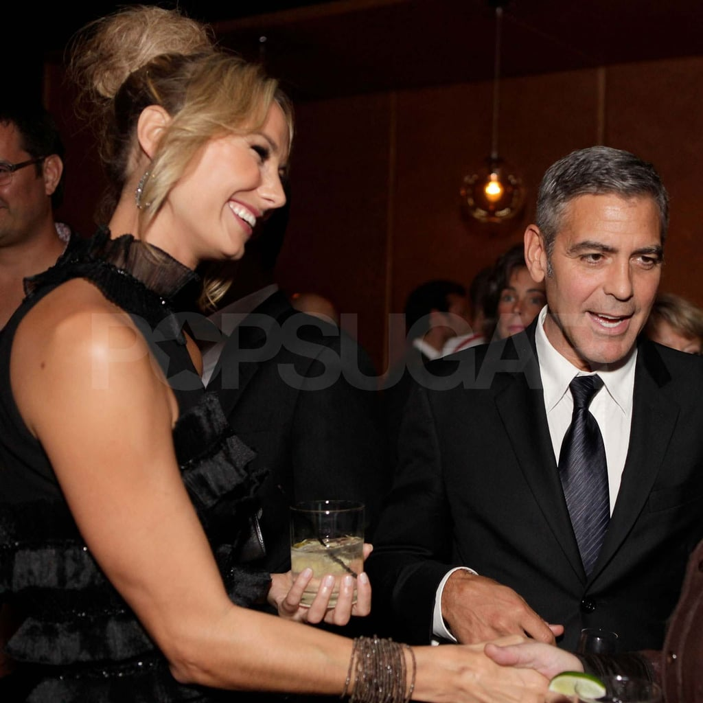 George Clooney and Stacy Keibler at TIFF.