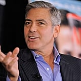 George Clooney spoke at a press event in NYC.