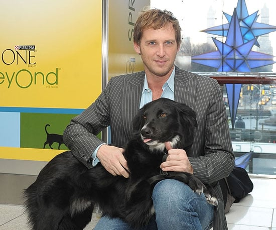 Slide Picture of Josh Lucas With His Pup Loki in NYC
