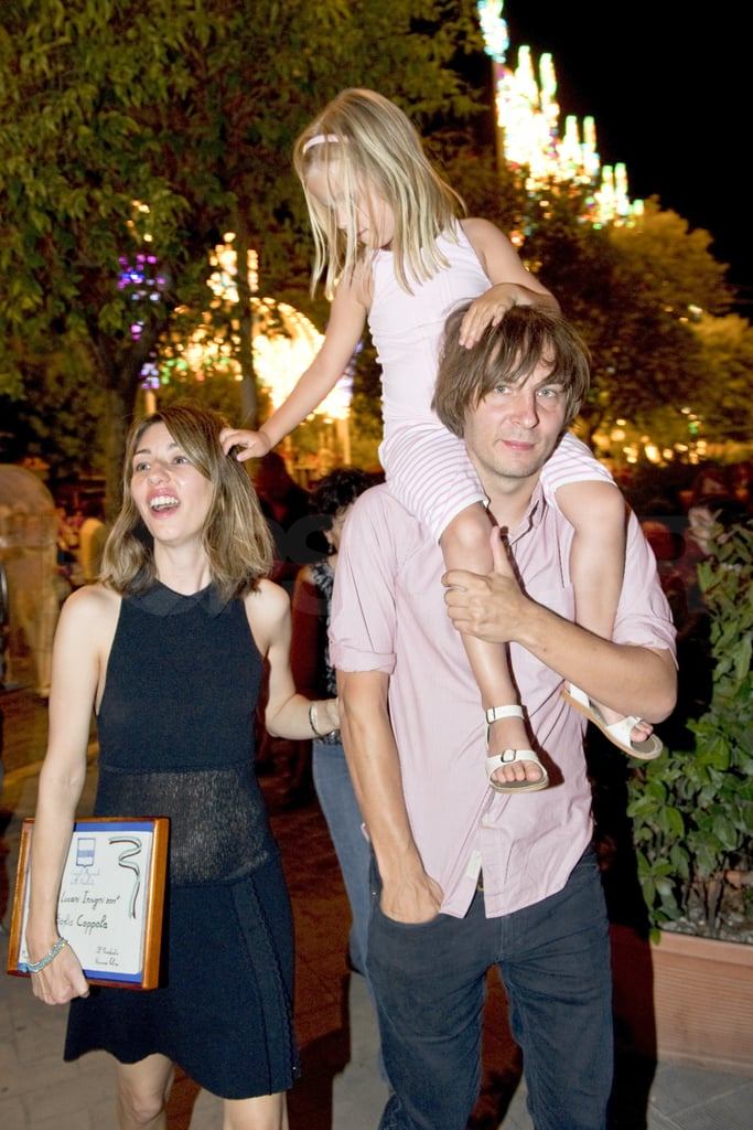 Thomas Mars, Sofia Coppola, and Romy Mars stepped out with family