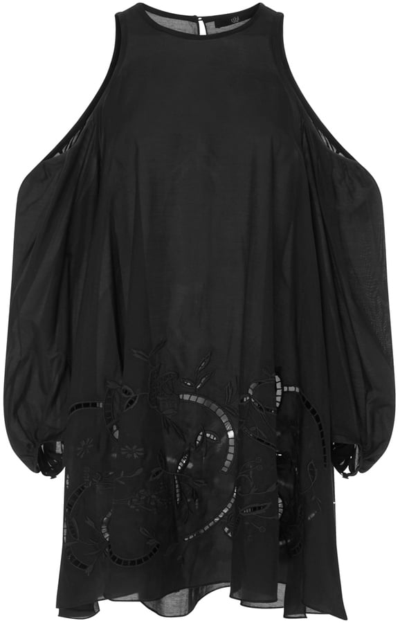 Tibi Carmen Embroidered Open Shouldered Tunic ($465)