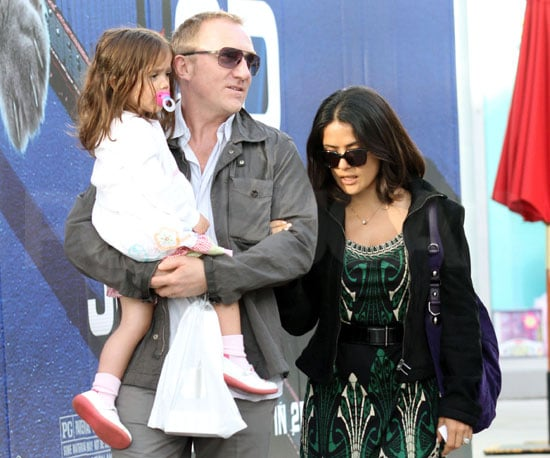 Slide Picture of Salma Hayek, Francois and Valentina Shopping in LA